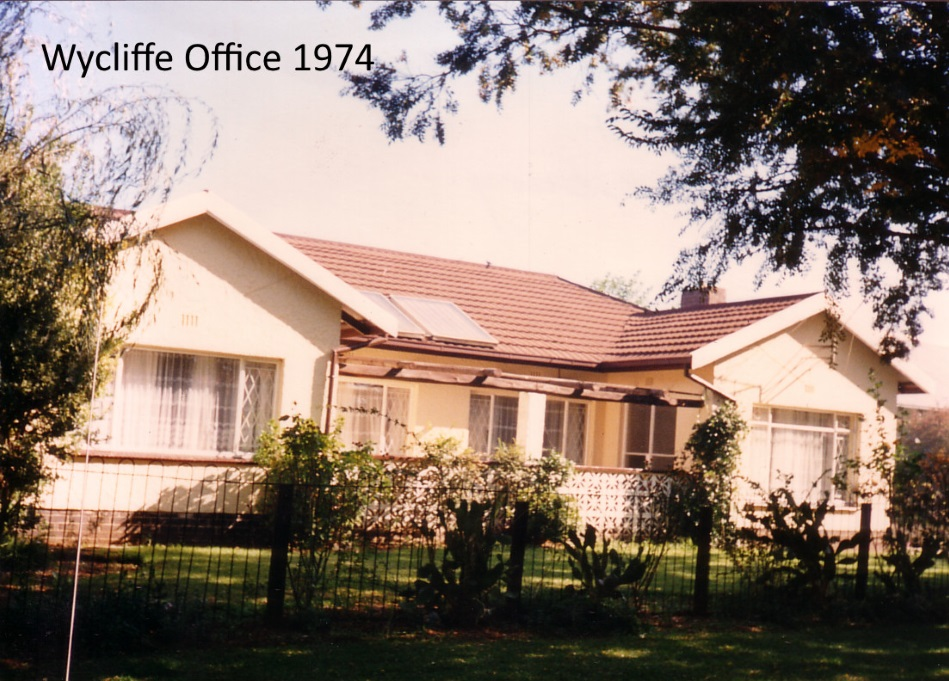 Wycliffe Office 1974